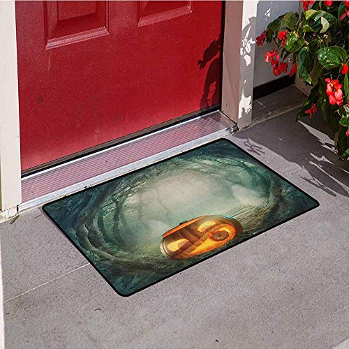 Gloria Johnson Halloween Universal Door mat Drawing of Scary