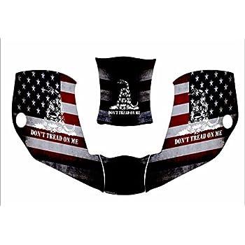 GLOSSY DECAL STICKER USA FLAG MILLER WELDER BOBCAT SET OF 4 DECALS