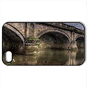 A beautiful bridge - Case Cover for iPhone 4 and 4s (Bridges Series, Watercolor style, Black)