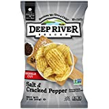 Deep River Snacks Salt & Cracked Pepper Kettle Cooked Potato Chips, Non GMO, 2 Ounce (Pack of 24)