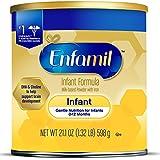 Enfamil Infant Formula - Milk-based Baby Formula with Iron, Powder Can, 21.1 oz (Pack of 4)