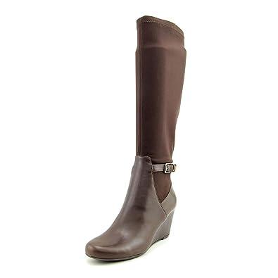 cd87d085f1b Isaac Mizrahi Live! Krystal Women s Leather Knee-High Boots