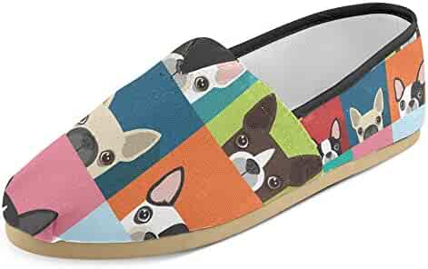 31532186c023 InterestPrint Women s Loafers Classic Casual Canvas Slip On Fashion Shoes  Sneakers Mary Jane Flat