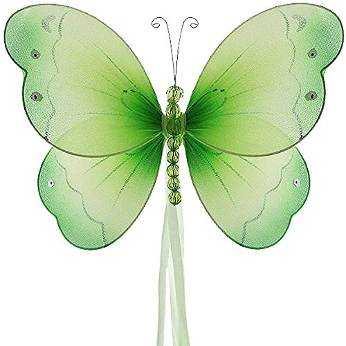 The Butterfly Grove Briana Mesh/Nylon 3D Hanging Decoration, Green Honeydew, Small/5 X 4