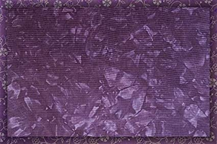 Hand dyed embroidery fabric Aida 14