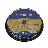 Verbatim DVD+RW 4.7Gb 4x Spindle 10 No 43488 rewritable blank dvd