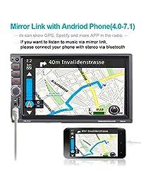 7 pulgadas Universal Doble Din en Dash Estéreo, ESSGOO Mirror Link Receptor de Coche Audio 2 Din Coche MP5 Jugador DVR   BT   FM   Mp3   AUX   TF Tarjeta   USB con controles en el volante Control remoto
