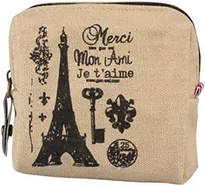 Wobuoke Womens Mini Retro Lady Purse Zipper Wallet Coin Purse Card Holders  Clutch Handbag Clearance efaf582d4a2cf