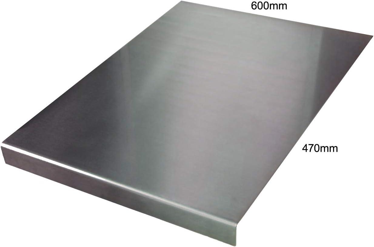 200 x 200 Round Fold silber Arbeitsfl/ächenschutz aus Edelstahl flach oder rund quadratisch verschiedene Gr/ö/ßen und Preise inkl. rutschfeste Gummif/ü/ße