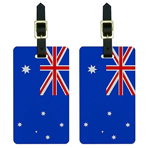 Luggage Tag Australia (Graphics & More Australia Flag Luggage Tags Suitcase Carry-on Id, White)