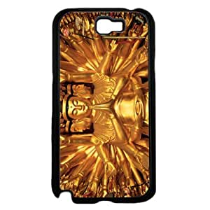 Gold Colored Buddha - Phone Case Back Cover (Galaxy Note 2 - Plastic)