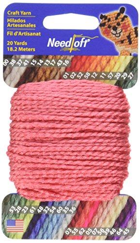 Needloft Craft Yarn, 20-Yard, Watermelon