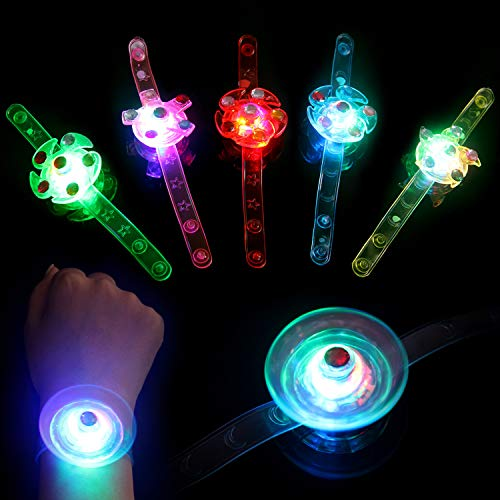 Satkago 12 Pack Light Up Bracelets Rings Glow in The Dark Party Supplies Birthday Party Favors for Boys Kids Girls Prizes Classroom Laser Tag LED Neon Party Favors Supplies]()