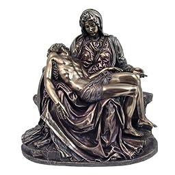 Pieta Statue - Cold Cast Bronze Sculpture - Magnificent