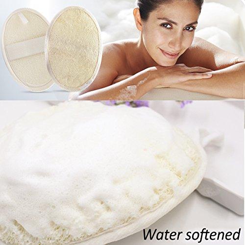 Jaciya 5 Pack Exfoliating Loofah Sponge Pads, Natural Luffa Material Loofah Sponge for Men and Women, Perfect for Bath Shower and Spa by Jaciya (Image #3)