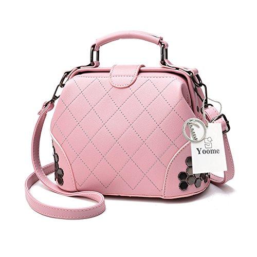 Yoome embrague con pañal gótico bolsa Crossbody Top mango Tote elegante bolsas para bolsa de bolsa de las mujeres - Rosa Rosado