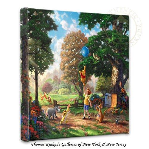Thomas Kinkade Winnie the Pooh II 14x14 Gallery Canvas (Disney Winnie The Pooh Wall Hanging)