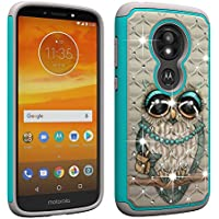 Berry Accessory Moto E5 Play Case,Moto E5 Cruise Luxury Glitter Sparkle Bling Case,Studded Rhinestone Crystal Hybrid Dual Layer Armor Case for Motorola E Play (5th Generation) Cute Owl