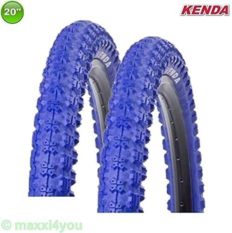 01022009b 2x Kenda k-51 bicicleta BMX - GOMA Abrigo Cubierta Azul 20 x 2.25 - 58-406: Amazon.es: Deportes y aire libre