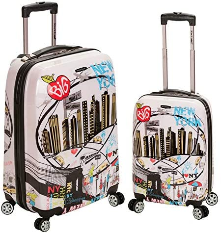 Rockland Departure Hardside Spinner Wheel Luggage Set, New York, 2-Piece (20/28)