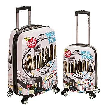 Image of Rockland Luggage 2 Piece Upright Luggage Set, New York, Medium Luggage
