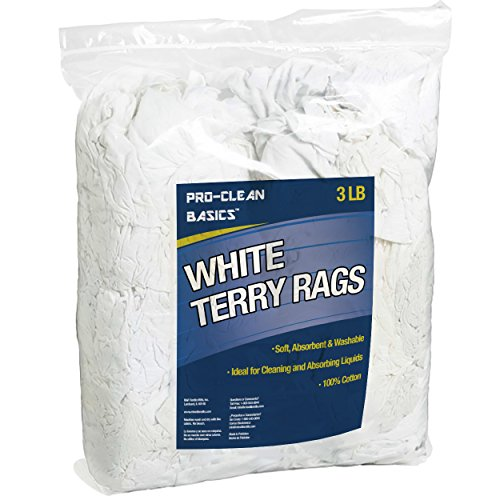 Pro-Clean Basics White Terry Cloth Rags: 3 lb. Bag