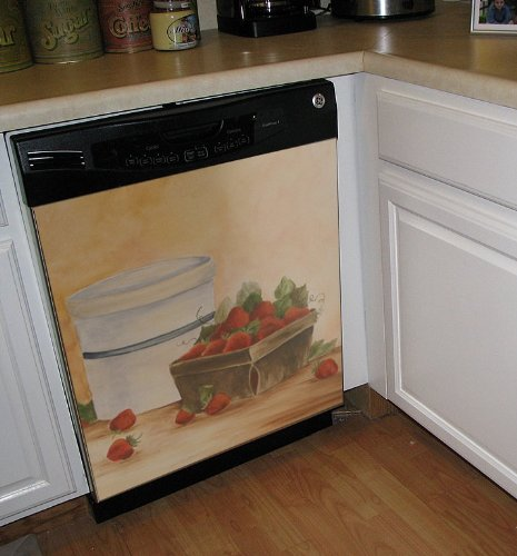 Strawberry Time Custom Dishwasher