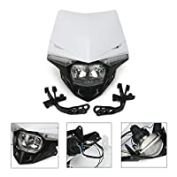 Universal Headlight Head Lamp Light Fairing Street Fighter Mask Day Running Light Turn Signal Lights