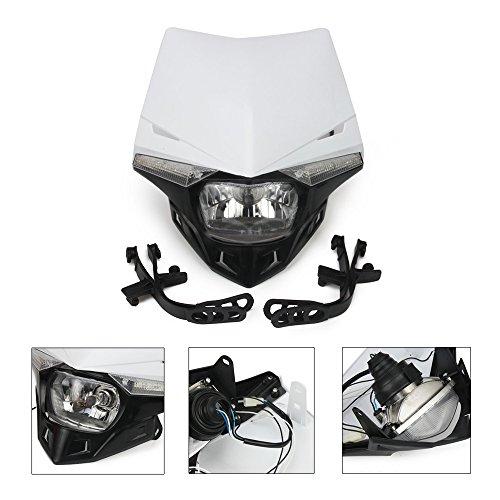 White Universal S2 12V 35W Universal Motorcycle Headlight Head Lamp Led Lights For Dirt Pit Bike ATV