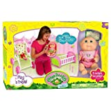 Cabbage Patch Kids Play 'n Travel: Tiny Newborn with Folding Accessories (Carrier, Crib, Stroller)