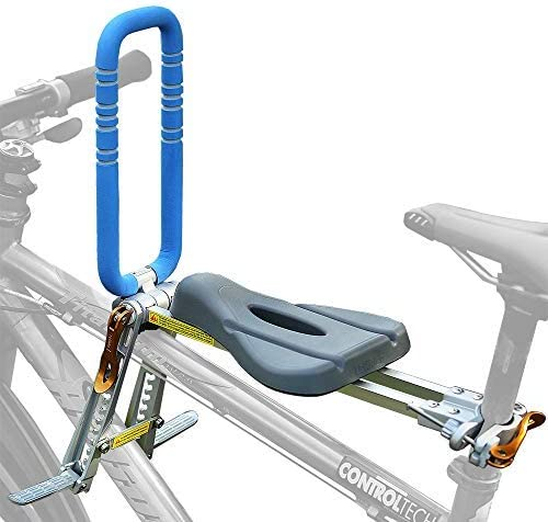 UrRider Child Bike Seat, Front Mount Baby Kids' Bicycle Carrier with Handrail
