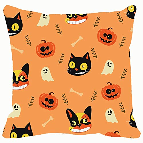 bag pack home Cute Cartoon Halloween Theme The Arts Wallpaper Backgrounds Textures Throw Pillow Case Cushion Cover Pillowcase Watercolor 18x18 for Couch -