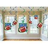 Amscan Football Frenzy Birthday Party Swirl Ceiling Decoration (12 Piece), Multi Color, 10 x 9.6""