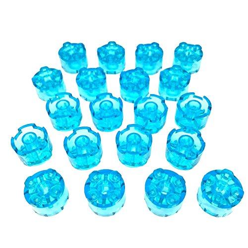 Lego Parts: Brick, Round 2 x 2 (Service Pack 3941 - 20 Transparent Light Blue)