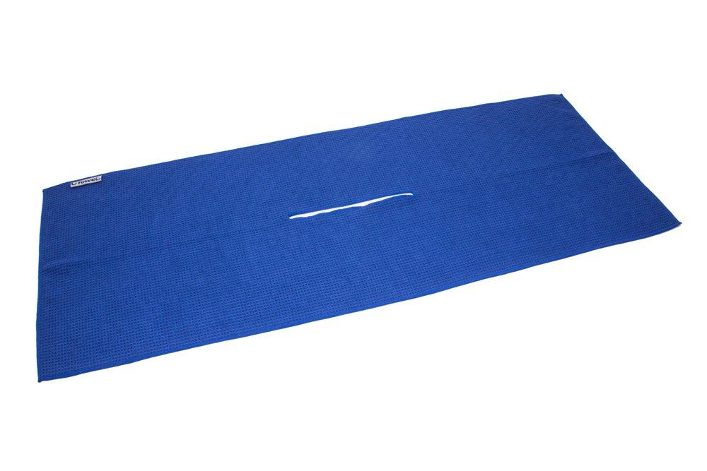 Center Cut Microfiber Golf Towel 16''x40'' (Navy Blue) by Clothlete