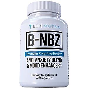51j5EQHoMXL. SS300  - B-NBZ ANTI-ANXIETY BLEND AND MOOD ENHANCER - Anxiety Supplement & Panic Attack Relief - Amazing Anxiety Natural Supplements & Panic Attack Herb - B Vitamins, Niacin, Biotin, Zinc, 5HTP #1 Anxiety 2018