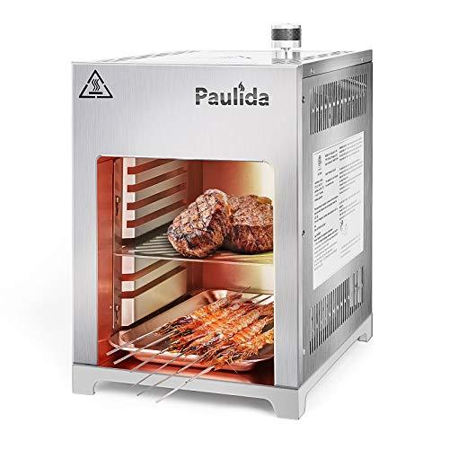 Paulida Gas Steak Grillr, Gas Beefer, Hochtemperatur Gasgrill,Profi-Grillstation für BBQ,Edelstahl Beef Grill…