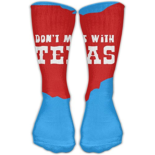 Don't Mess With Texas Unisex Performance Crew Socks Protect The Wrist For Cycling Moisture Control Elastic Socks 11.8inch -