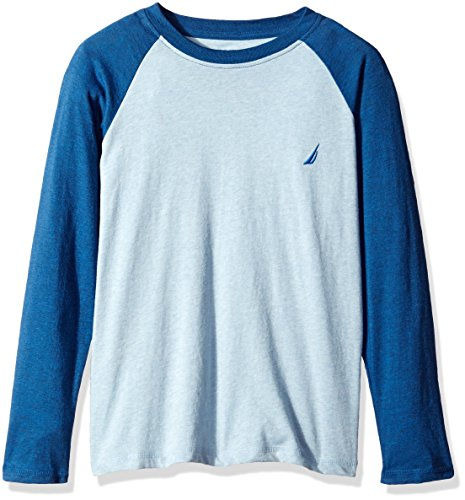 Nautica Big Boys The Current Long Sleeve Raglan Crewneck, Blue Flint, - Raglan Crewneck Sleeve Long