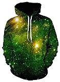#10: PAUL JONES Men's Stylish 3D Digital Print Pullover Hoodies Hooded Sweatshirt