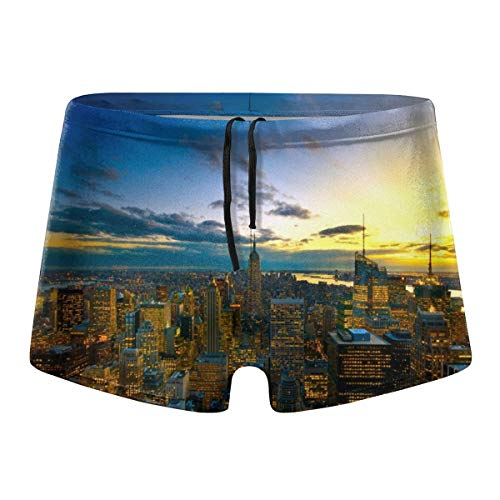349tg1u Colors of New York Men's Swim Trunks Shorts Athletic Swimwear Briefs ()