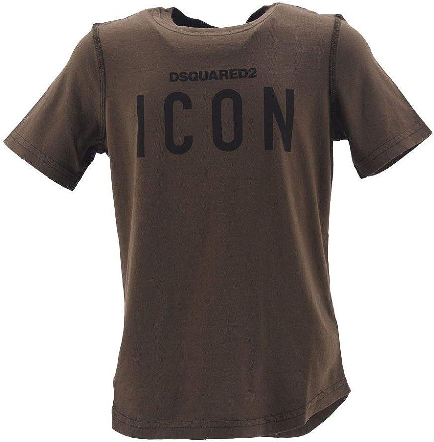 DSQUARED2 - Camiseta de manga corta para niño con impresión Icon: Amazon.es: Ropa y accesorios