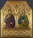 Oil Painting 'ugolino Di Nerio-Saint Bartholomew And Saint Andrew,about 1324-5' Printing On High Quality Polyster Canvas , 30x34 Inch / 76x86 Cm ,the Best Bathroom Artwork And Home Decoration And Gifts Is This Replica Art DecorativePrints On Canvas