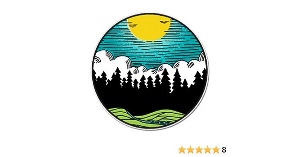 Vinyl Sticker Waterproof Decal Forest Landscape Sun Nature Scene Outdoor