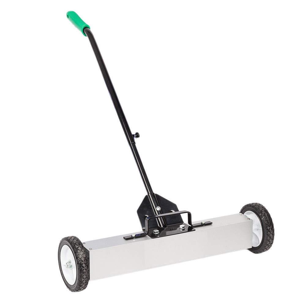 TG888 Adjustable Height Rolling Magnetic Sweeper Pickup Push Broom 24'' Floor Cleaner Tool Telescoping