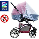 2 Pack Baby Mosquito Net for Strollers Carriers Car...