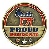 PinMart Proud Democrat Political Party Donkey Enamel Lapel Pin