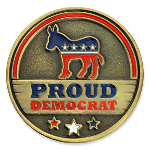 Democrat Lapel Pin Donkey (PinMart Proud Democrat Political Party Donkey Enamel Lapel Pin)