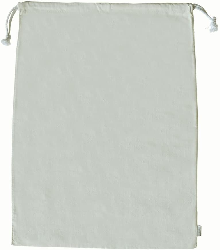 Augbunny 100% Cotton Canvas Travel Laundry Bag, 2-Pack