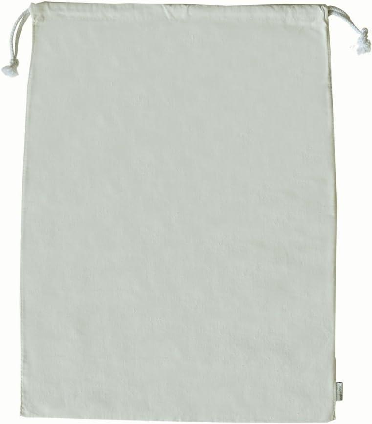 Augbunny 100% Cotton Canvas Travel Laundry Bag, 2-Pack
